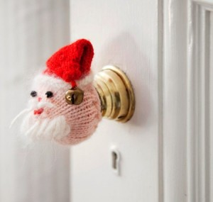 Santa doorknob (Photo: Traditional Home)