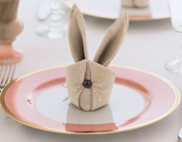 Bunny napkins. (Photo: Delish)