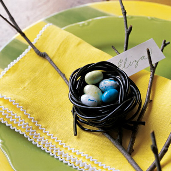 Edible Nest Place Card Holders. (Photo: Delish)