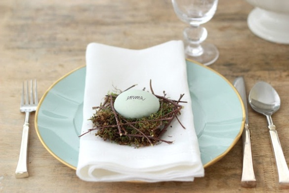 Heirloom blue egg on a nest of green moss and twigs. (Photo: Jenny Steffens Hobick)