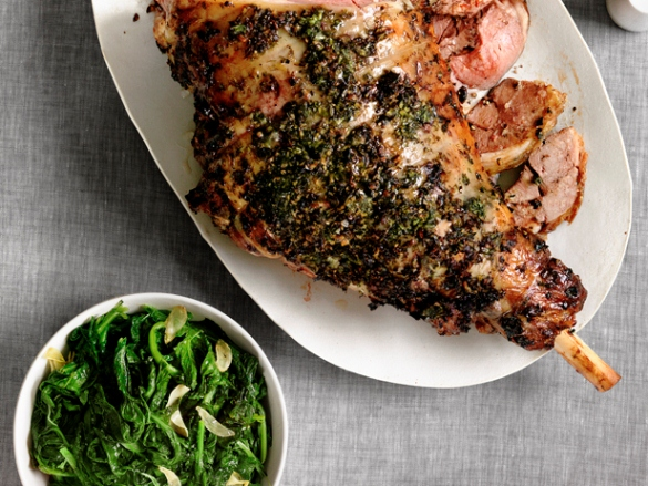Herbed Leg of Lamb with Roasted Turnips. (Photo: Food Network)