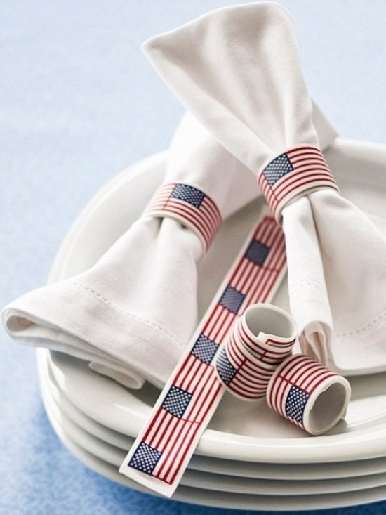 American flag snap bracelets. (Photo: Better Homes and Gardens)