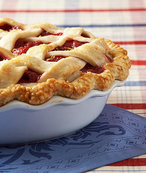 Raspberry-Lemon Pie. (Photo: Traditional Home)