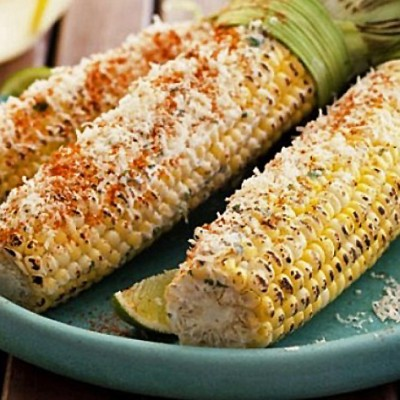 Grilled Mexican Corn for 2