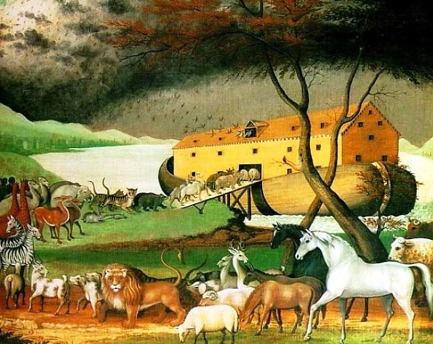 Edward Hicks. Noah's Ark. 1846.