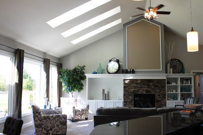 Skylights in a living room