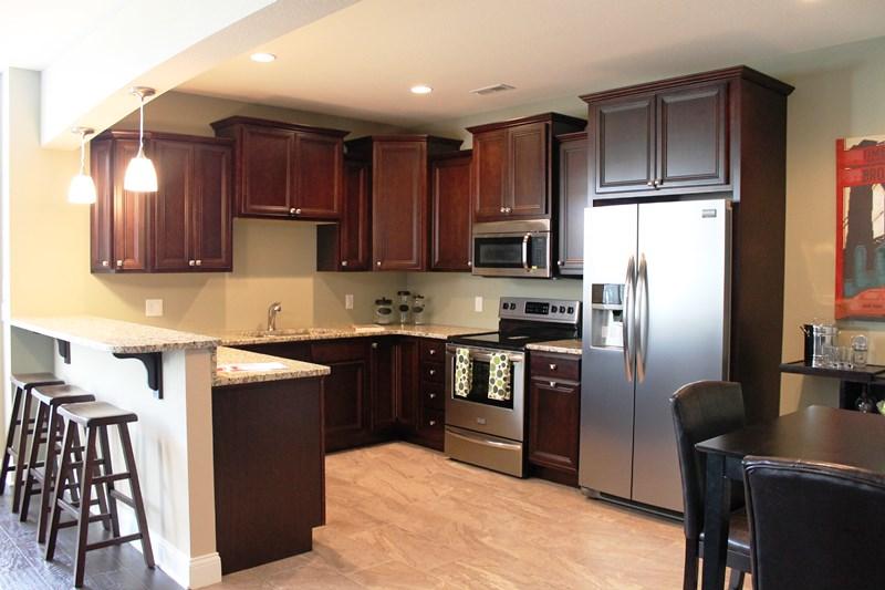 Smaller kitchen
