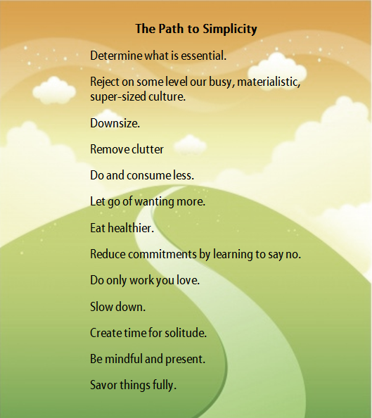 Path to simplicity
