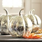 Antique Mercury Glass Pumpkins. (Photo: Pottery Barn)