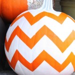 Chevron Pumpkin. (Photo: Feeling Lovesome)