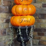 Trick-or-Treat Tiered Pumpkins. (Photo: Better Homes and Gardens)