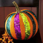 Sequin Striped Pumpkin. (Photo: Better Homes and Gardens)