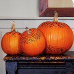 Stenciled Pumpkins. (Photo: Better Homes and Gardens)