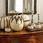 Upholstery Tacked Pumpkins. (Photo: Helen Norman/Southern Living)