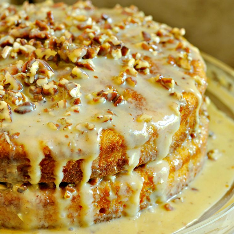 Pumpkin Praline Cake (Photo: Loaves and Dishes)
