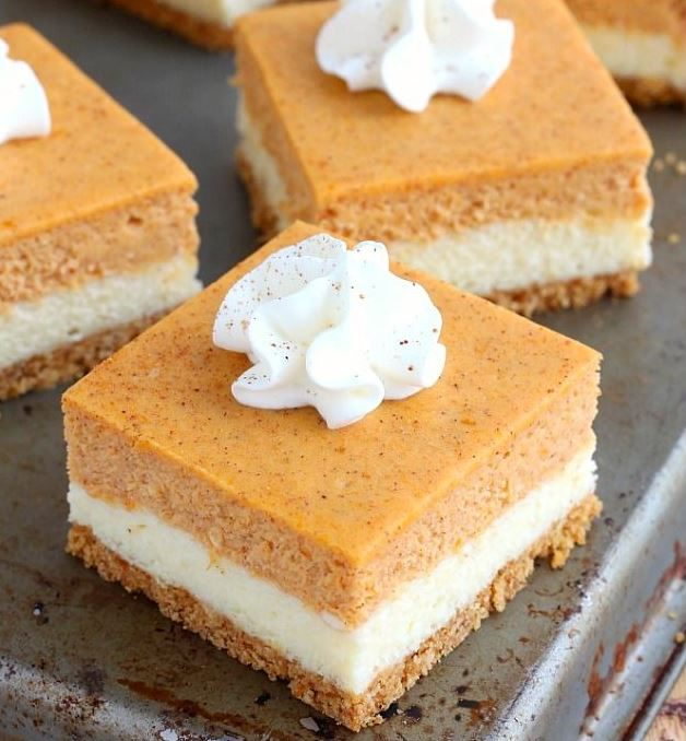 Pumpkin Cheesecake Bars (Photo: Treats Affair)