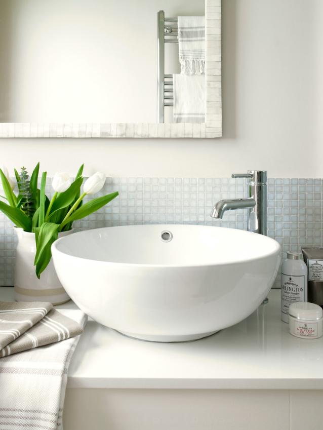 Guest bath sink.