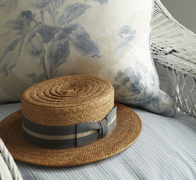 1920s straw boater is right out of The Great Gatsby.