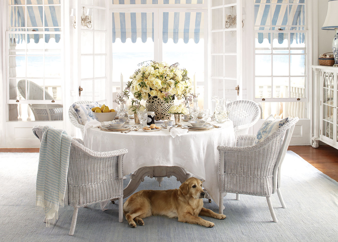 A well-appointed table by Ralph Lauren.