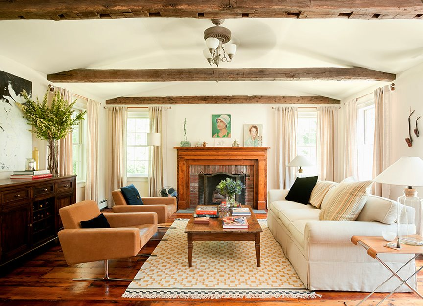 The living room is a 2005 addition to the original 1795 farmhouse. (Photo: Emily Gilbert)