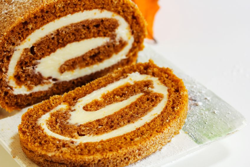 Spiced Pumpkin Cake Roll (Photo: Our Empty Nest)