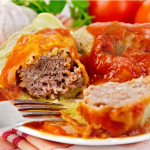 Stuffed Cabbage with Sauerkraut