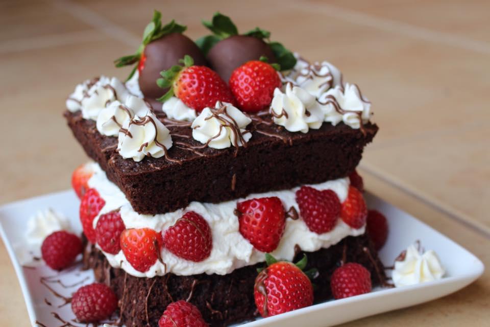 Chocolate Whole Wheat Mini Naked Cake (Photo: The Kitchen Prescription)