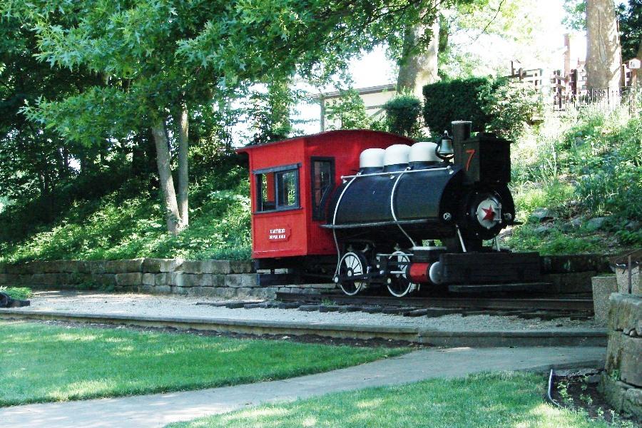Narrow gauge train engine.
