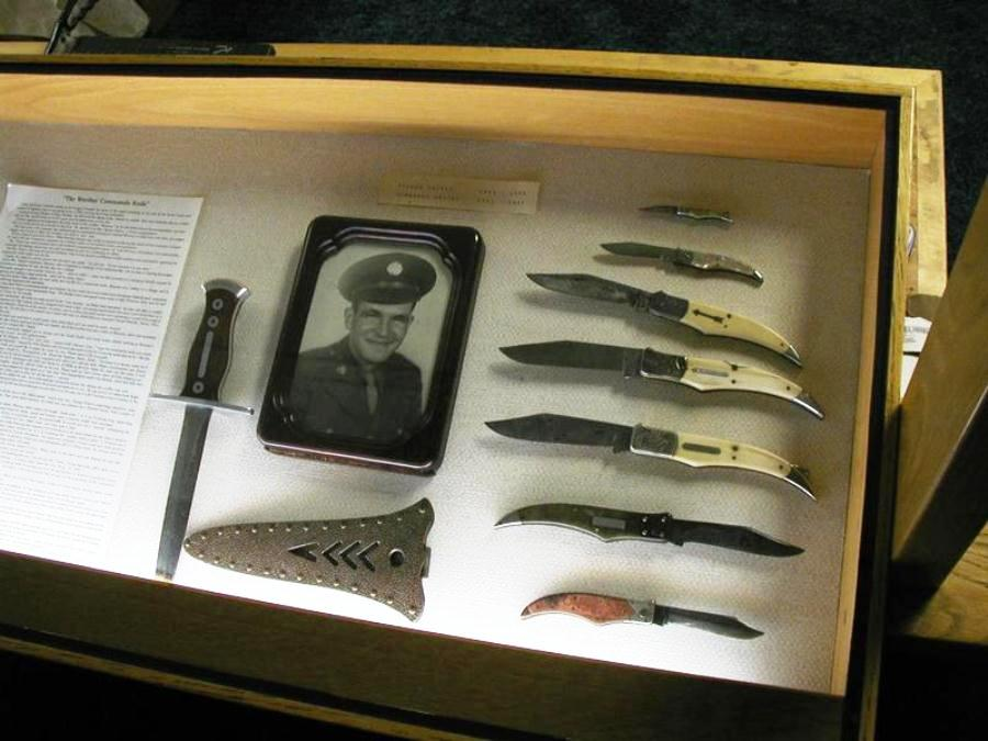 Warther hand-forged Commando knives for local servicemen during World War II.