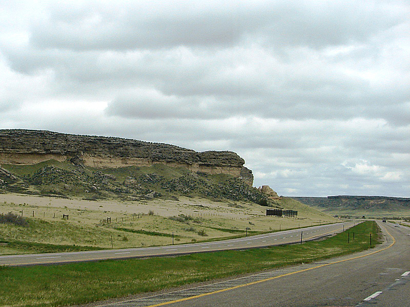 The Laramie Range follows the highway all the way to Casper.
