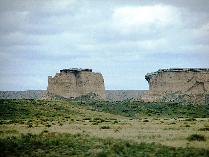 Bluffs, buttes, mesas, and a lot of sagebrush.