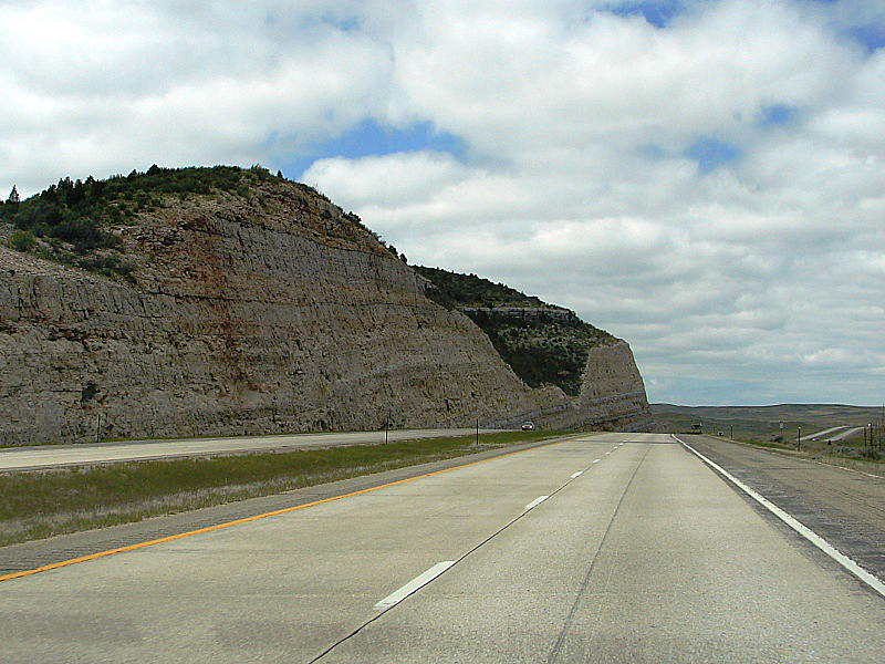 I-25, near Glendo, WY . . . traffic thinned considerably.