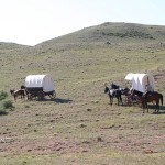 An authentic wagon train experience on the same trail the pioneers traveled. (Photo: Wyoming Tourism)