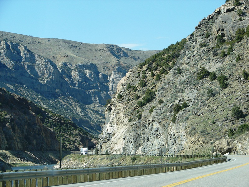 Wind River Canyon has a rugged beauty all its own.