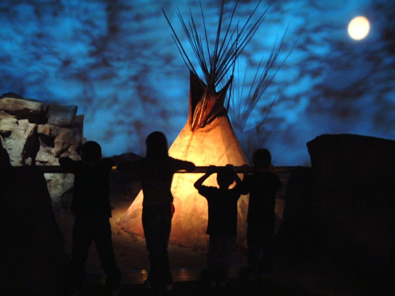 Seasons of Life gallery in the Plains Indian Museum. (Photo: Buffalo Bill Center of the West)
