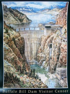 Poster of an oil painting commissioned after the dam was completed. (Photo: ChasBlog)
