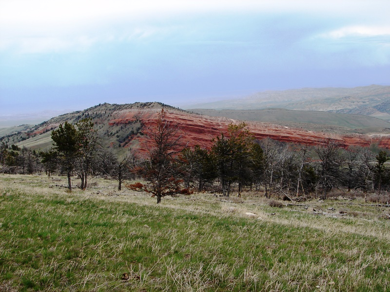 Around the turn, a ChugwaterThe Chugwater Formations are red because of oxidation of iron minerals within the rock.