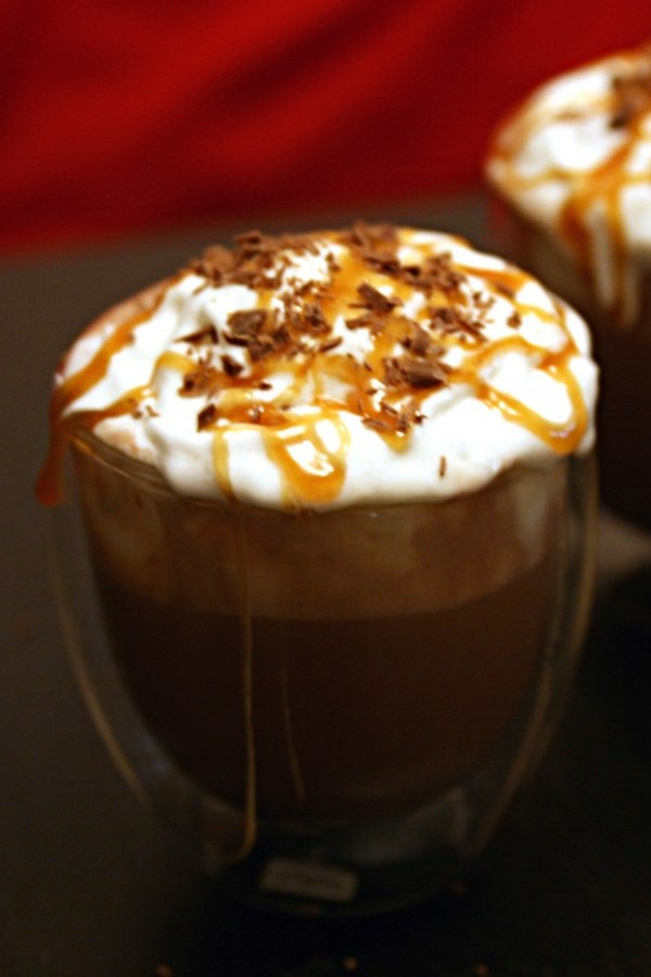 Adult Salted Caramel Hot Chocolate Floats