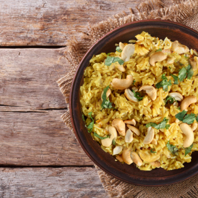 Cashew-Rice Pilaf