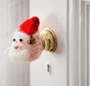 Santa doorknob (Photo: Traditional Home)