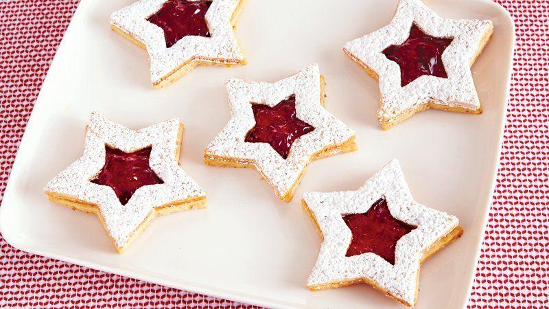 Linzer Star Christmas Cookies