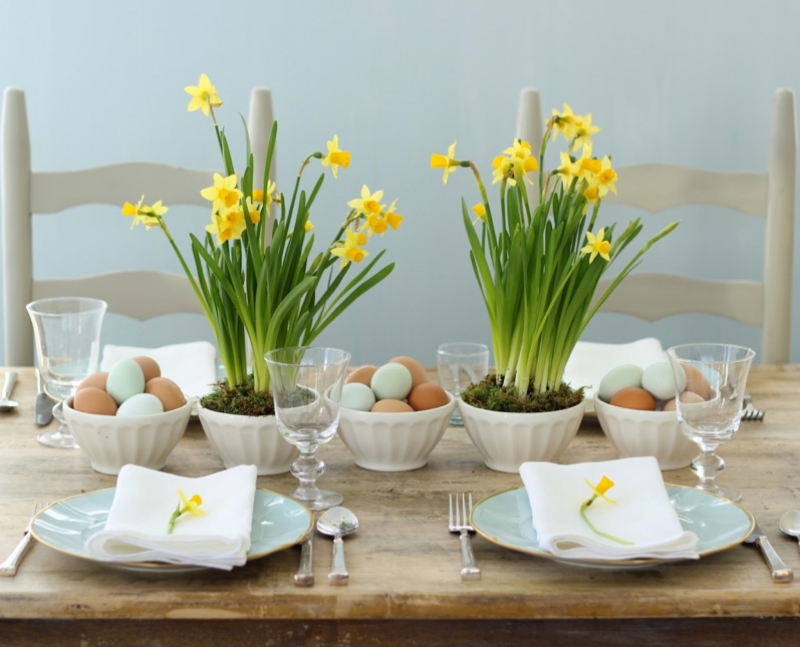 Simple, easy-to-make centerpiece. (Photo: Jenny Steffens Hobick)