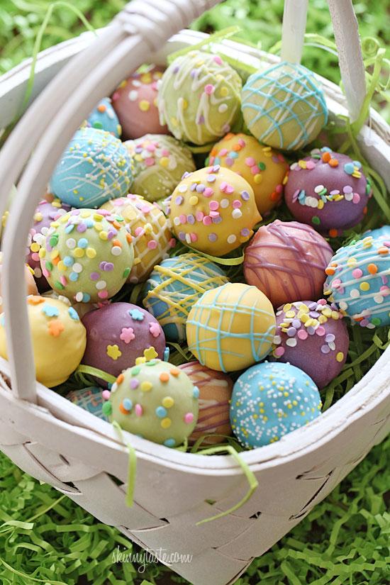 Skinny Easter Egg Cake Balls (Photo: Skinny Taste)