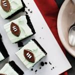 Grasshopper Cake with Andes Mint Footballs (Photo: Martha Stewart)