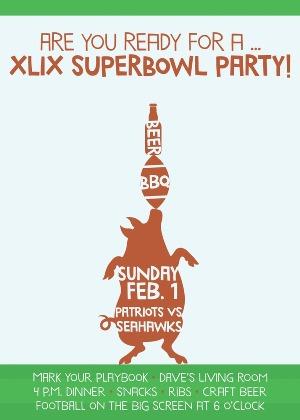 Super Bowl party invitation (Photo: Small Moments)