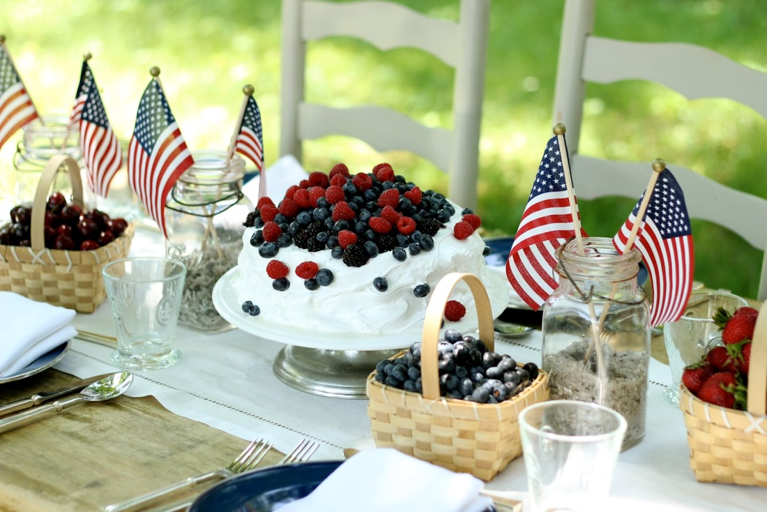 Red, White, and Blueberry Ice Cream Cake. (Photo: Jenny Steffens)