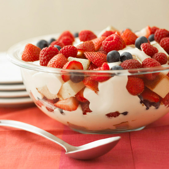 Patriotic Berry Trifle. (Photo: Better Homes and Gardens)