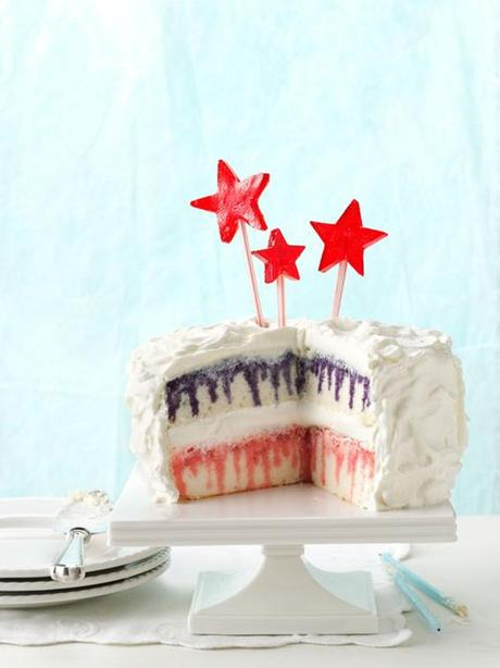 Red, White, and Blueberry Poke Cake. (Photo: Taste of Home)