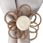 "Juliska ""Twine Flower"" napkin ring."