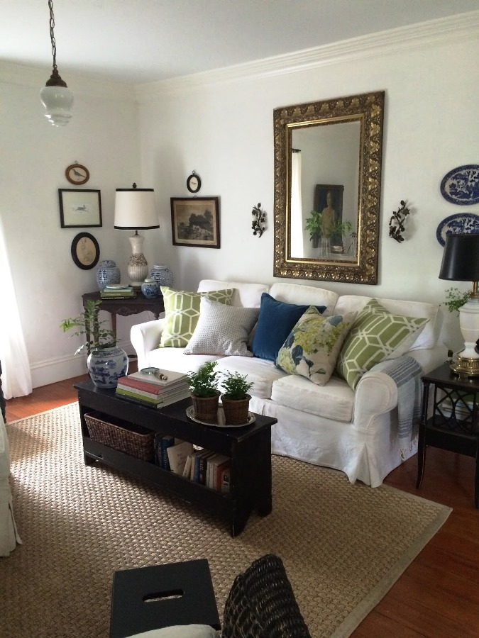 An eclectic mix of comfortable furniture and decor add to the charm.